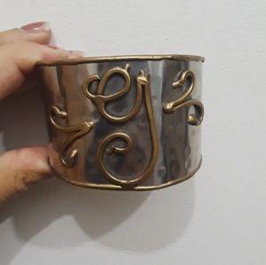 "Monogram ""G"" cuff bracelet"